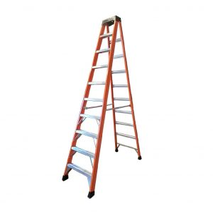 Tradecraft 10′ Fiberglass Step Ladder Grade 1A 300lbs