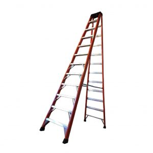 Tradecraft 12′ Fiberglass Step Ladder Grade 1A 300lbs